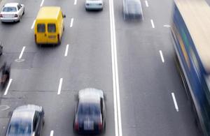 Traffic in blur on a motorway