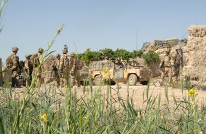 Soldiers preparing to leave a patrol base (library image) [Picture: Corporal Barry Lloyd RLC, Crown copyright]