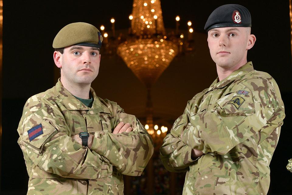 Lieutenant John Scarlett and Lance Corporal Stephen Shaw