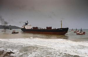 Kuzma Minin aground