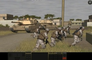 Screen shot of Combat Mission game