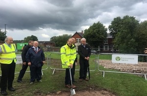 Sir James Bevan marking the start of work at the Carlisle Flood Scheme