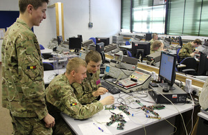 Craftsmen apprentices from the Defence School of Electronic and Mechanical Engineering (stock image) [Picture: Crown copyright]