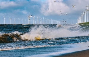Wind energy turbines in the ocean