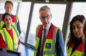 Michael Gove on Dover visit