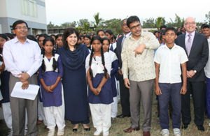Baroness Warsi in Bangladesh in February 2013