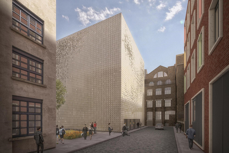 London Underground vent shaft power substation to be built on the former Wolfson House office block.