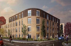 View of new development
