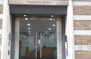 Finlaison House entrance