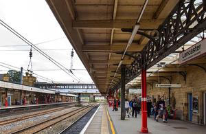 Lancaster railway station.