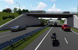 image showing an artistic impression of how the A69 Bridge End junction will look