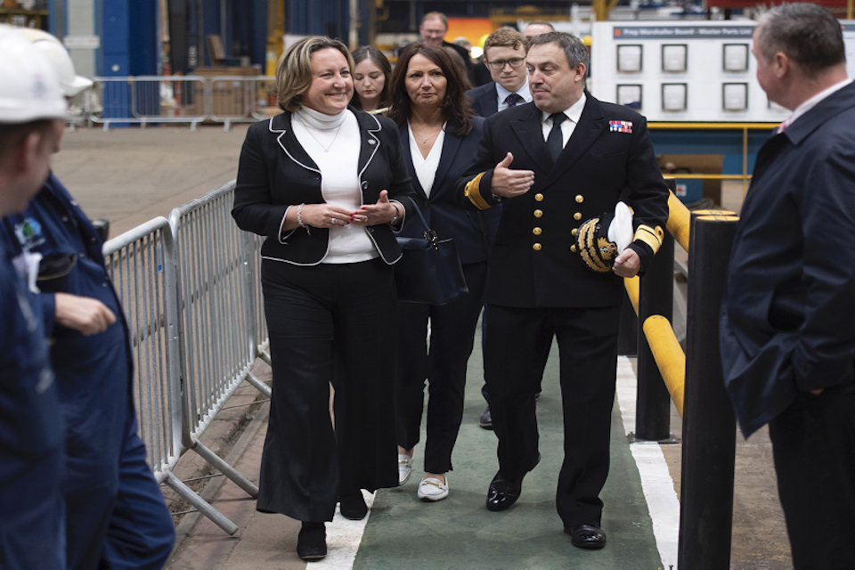 Defence Minister touring BAE Systems