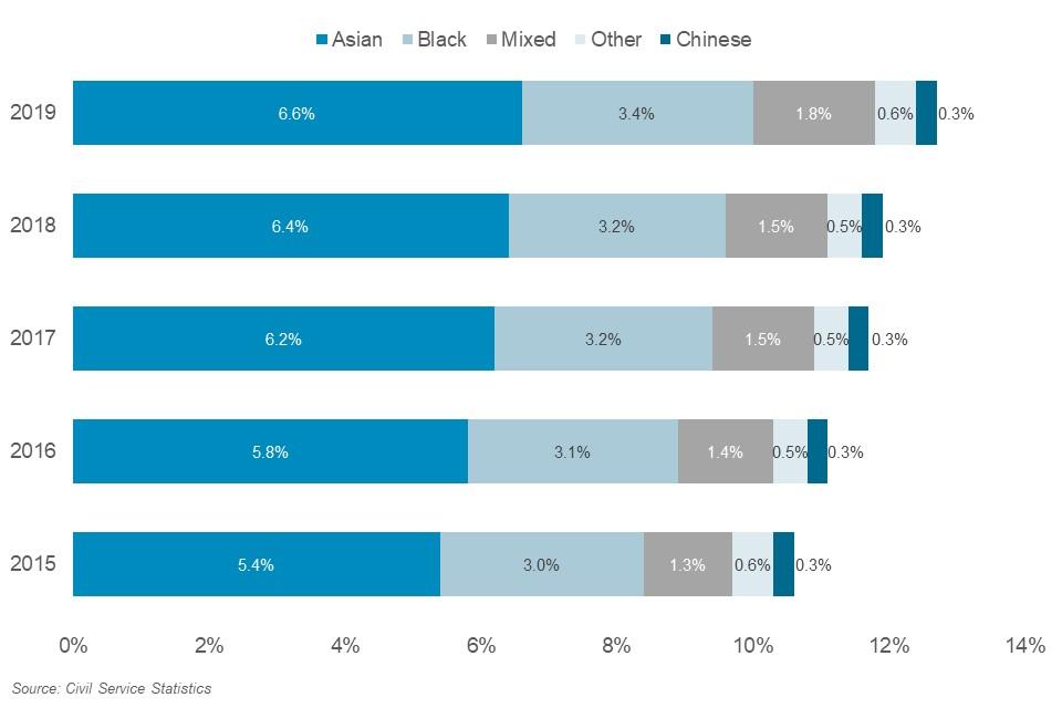 Representation of ethnic groups 2019