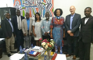 Selvarani and Professor Elliott with Professor Alex Dodoo, Director General of the Ghana Food Standards Authority (second from left)