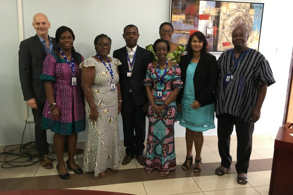 Mimi Darko, Chief Executive Officer of the Ghana Food and Drugs Authority (third from right, front row)