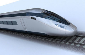 Picture of a HS2 train.