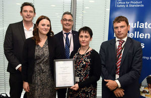 Photo of award winners.
