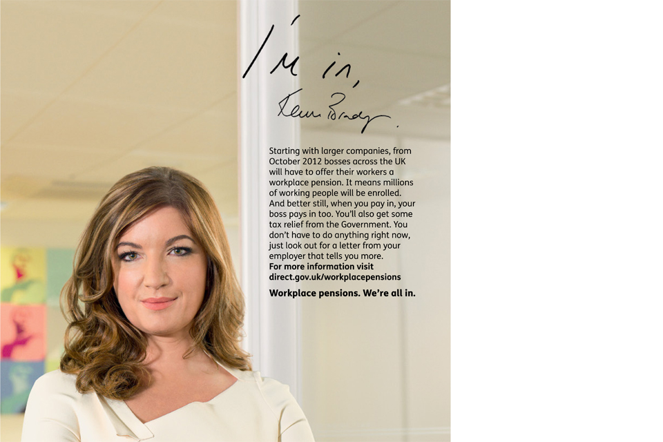 """I'm in"" – Karren Brady (campaign poster detail)"