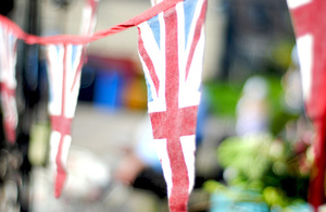 Bunting with a union jack design