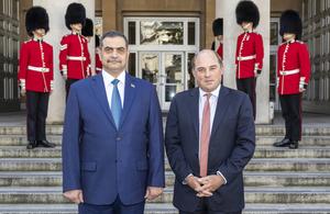 Defence Secretary Ben Wallace met with his Iraqi counterpart, His Excellency Najah al-Shammari. Crown copyright.