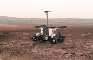Artist impression of Rosalind Franklin, the ExoMars rover on Mars