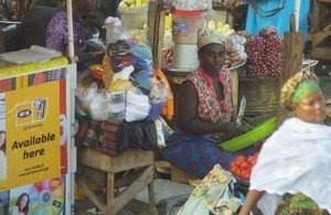 Woman market trader