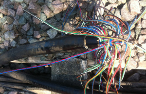 Severed cable at Millbrook shows the lengths theives will go to