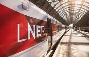 LNER train at the platform