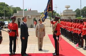 Defence Minister Mark Lancaster with the Ghanaian Armed Forces