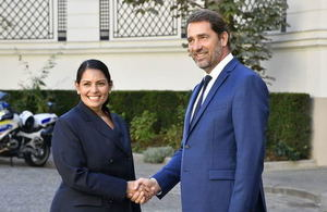Home Secretary Priti Patel meets French Interior Minister.