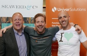 From left: Gary Abraham of Univar Solutions with Ricky Wilson and Dr Craig Rose at the signing of the new distributor agreement.