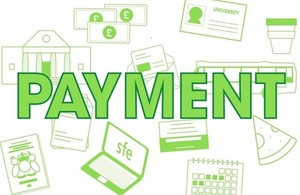 Image displaying the word payment
