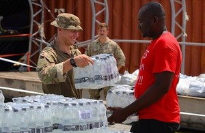 Ministry of Defence delivering aid to the Bahamas