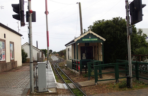 Romney Sands ticket office and station platform
