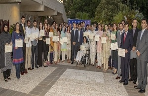 53 Chevening scholars for 2019/20 with the British High Commissioner Thomas Drew CMG