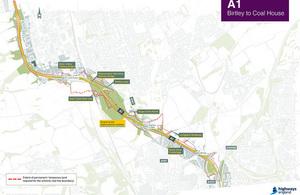 A1 Birtley to Coal House improvement plan