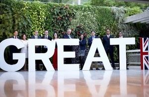 The British Ambassador to Venezuela with the 2019-2020 Chevening scholars