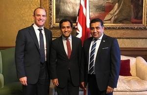 Foreign Secretary, Lord Ahmad and Rehman Chishti MP