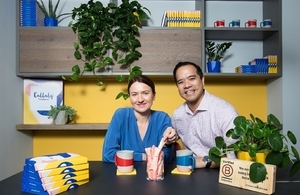 Thang Vo-Ta (CEO & co-founder) and Ewa Radziwon (Product Development Lead) of Callaly