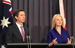 International Trade Secretary, Liz Truss and Australian Trade Minister, Simon Birmingham