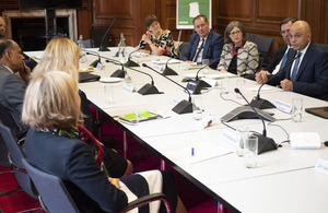 Image showing the Economics of Biodiversity Review's expert advisory panel meeting with the Chancellor of the Exchequer