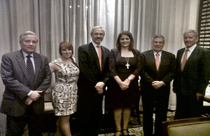 Visitors from the Falkland Islands met with members of the Honduran Congress.