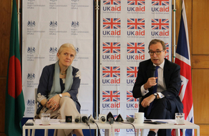 British High Commissioner to Bangladesh Robert Chatterton Dickson and Head of DFID Judith Herbertson spokes to Bangladeshi media about the additional funding for Rohingya crisis.