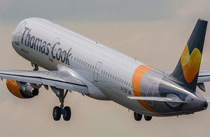 Thomas Cook Airbus A321 taking off.