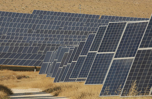 A solar farm in Jordan.