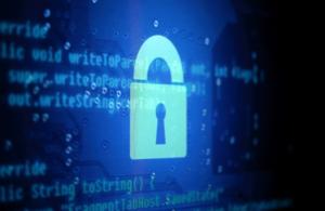 A computer screen displaying a padlock