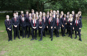 A class photo of Year 10 pupils from Mildenhall College Academy.