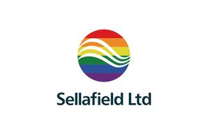 Multi coloured Sellafield Ltd logo to represent the pride rainbow