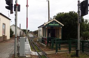 Romney Sands ticket office and station platform