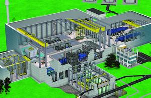 Illustration of spherical tokamak power plant concept